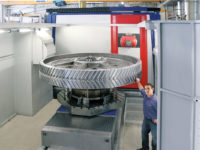 5-Axis-Milling of Herringbone Gear with Diameter 2800mm